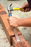 Chisel and hammer Stock Photography