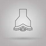 Chisel icon oil and gas industry Stock Images