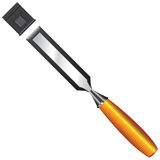 Chisel with protective cap. For the cutting edge. Vector illustration Stock Photo