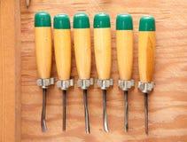 Chisel tool set Stock Photo
