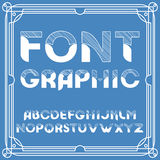 Chiseled Alphabet Vector Font. Typographic design set . Royalty Free Stock Photography