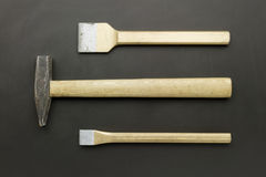 Chisels and hammer Royalty Free Stock Image