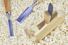 Chisels and spokeshave Stock Photos