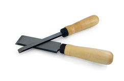 Chisels with wooden handles Royalty Free Stock Photography
