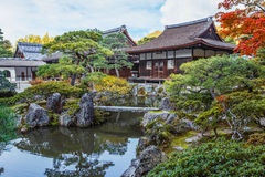 Chisen-kaiyushiki garden in Ginkaku-ji temple, Kyoto Royalty Free Stock Images