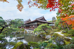 Chisen-kaiyushiki garden in Ginkaku-ji temple, Kyoto Royalty Free Stock Photo