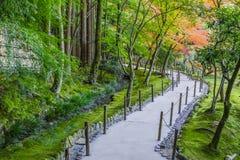 Chisen-kaiyushiki ogród w Ginkaku-ji świątyni, Kyoto obraz royalty free