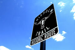 Chisholm Trail Sign Royalty Free Stock Photos