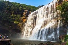 Chishui har härliga berg, härligt landskap, skogtäckningen, som är i det Guizhou landskapet Royaltyfri Bild