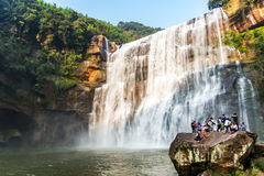 Chishui heeft mooie bergen, mooi landschap, de bosdekking, die in Guizhou-provincie is royalty-vrije stock afbeelding