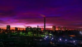Chisinau, Δημοκρατία της Μολδαβίας Εναέρια άποψη στο ηλιοβασίλεμα, στις 2 Δεκεμβρίου Στοκ φωτογραφίες με δικαίωμα ελεύθερης χρήσης