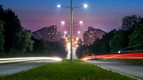 Chisinau, Δημοκρατία της Μολδαβίας Η πόλη Γκέιτς στο ηλιοβασίλεμα Στοκ Εικόνα