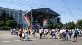 Chisinau  august  Stock Image