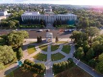 Chisinau, der Triumphbogen, das große Nationalversammlungs-Quadrat Lizenzfreie Stockbilder