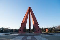 CHISINAU, MOLDAVIË - 22 DECEMBER, 2016: Het Herdenkings Complexe gebied gewijd aan de slachtoffers van de Oostelijke Voorzijde va Stock Foto's