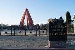CHISINAU, MOLDAVIË - 22 DECEMBER, 2016: Ingang van het Herdenkings Complexe gebied gewijd aan de slachtoffers van de Oostelijke V Stock Foto's