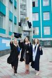 Chisinau, Moldavië - Juli 11, 2014: Graduatie, Studenten, Onderwijs Groep het Europese het Een diploma behalen Studenten Vieren 1 Royalty-vrije Stock Afbeeldingen
