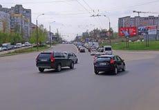 Chisinau, Moldova - April 21, 2019. Car traffic, traffic jam in the city. Chisinau, Moldova - April 21, 2019. Car traffic traffic jam in the city, road, highway stock image