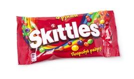 Pack of Fruit Skittles Stock Images