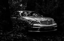 Chisinau, Moldova; 11 de outubro de 2017 Festival do clube de Mercedes-Benz em Moldova Classe W221 de Mercedes-Benz S Foto editor imagens de stock