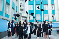 Chisinau, Moldova - July 11, 2014: Graduation, Students, Education. Group of European Graduating Students Celebrating. July 11, 20 Stock Photography