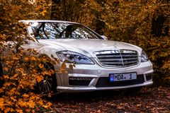 Chisinau, Moldova; October 11, 2017. Mercedes-Benz club festival in Moldova. Mercedes-Benz S Class W221. Editorial photo.  Royalty Free Stock Image