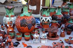 Chisinau, Moldova, 10.14.2014,For sale ceramic products at the celebration of the city Chisinau Stock Images