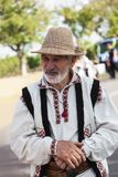 Old man in traditional Moldavian dress Stock Photo
