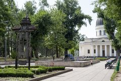 Chisinau park. Park Cattedral Kisinev chisinau, center of the city, in the summer - Moldova royalty free stock images