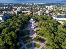 Chisinau, Republic of Moldova, aerial view from drone stock photo