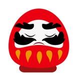 Chiński bóg bogactwo dobrobytu tradycyjnej kreskówki płaski wektorowy symbol Zdjęcia Royalty Free