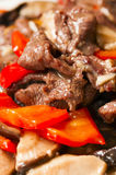 Chiński jedzenie--Pieczarka i wołowina Zdjęcia Royalty Free