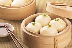 Chiński posiłek także znać jak ciemnawego słońce baozi Fotografia Royalty Free