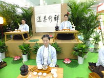 Chińskie kobiety wykonuje herbacianą sztukę Zdjęcie Stock