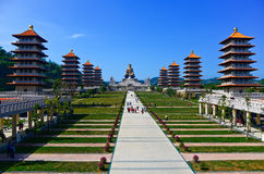 Chińskie świątynie i złota Buddha statua Fotografia Royalty Free