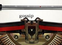 Chisme de la escritura de la máquina de escribir Imágenes de archivo libres de regalías