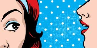 Chisme de la mujer stock de ilustración