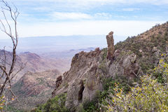 Chisos góry w Dużym chyłu parku narodowym zdjęcie royalty free