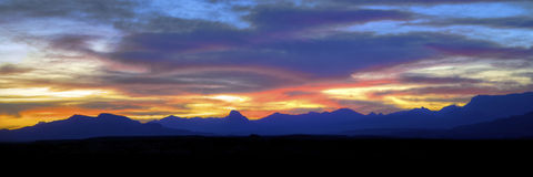 Chisos Mountains at Sunset Royalty Free Stock Photo