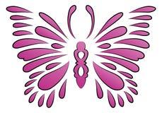 Chispa de la mariposa del tatuaje Fotografía de archivo