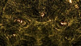Chispa de las partículas de la introducción del oro que brilla inconsútil almacen de metraje de vídeo