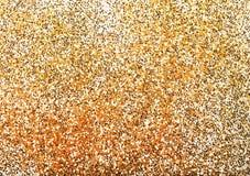 Chispa de oro del brillo Foto de archivo