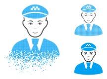 Chispa Dot Halftone Taxi Driver Icon con la cara libre illustration