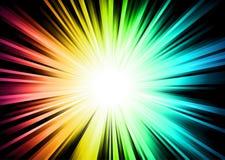 Chispa ligera con el arco iris Colurs Imagenes de archivo