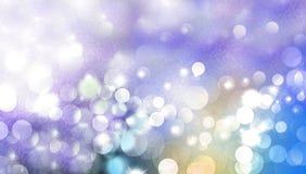 Chispa mágica de la Navidad, puntos ligeros, efecto del bokeh del vector sobre brillo Papel pintado del fondo foto de archivo libre de regalías
