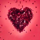 Chispas, brillo, chispa, ciervo rojo por días de fiesta, día del ` s de la tarjeta del día de San Valentín Fotos de archivo libres de regalías