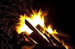 Chispas del fuego Imagen de archivo libre de regalías