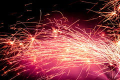 Chispas del fuego Foto de archivo libre de regalías