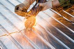 Chispas para corte de metales Foto de archivo