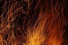 Chispas y fuego Imagen de archivo libre de regalías